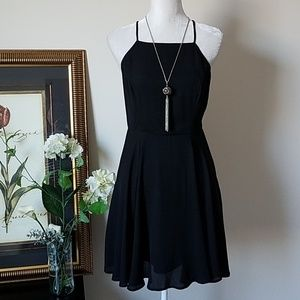 🍀 BP Black Strappy Swing Dress 🍀